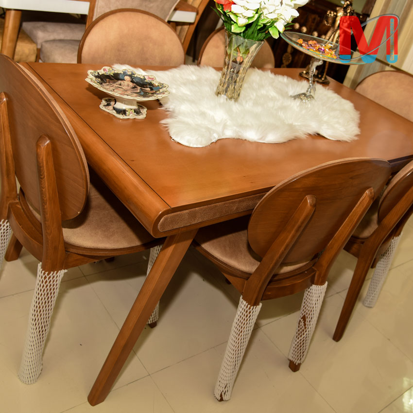 میز نهار خوری شیش نفره چوب راش گرجیستان
