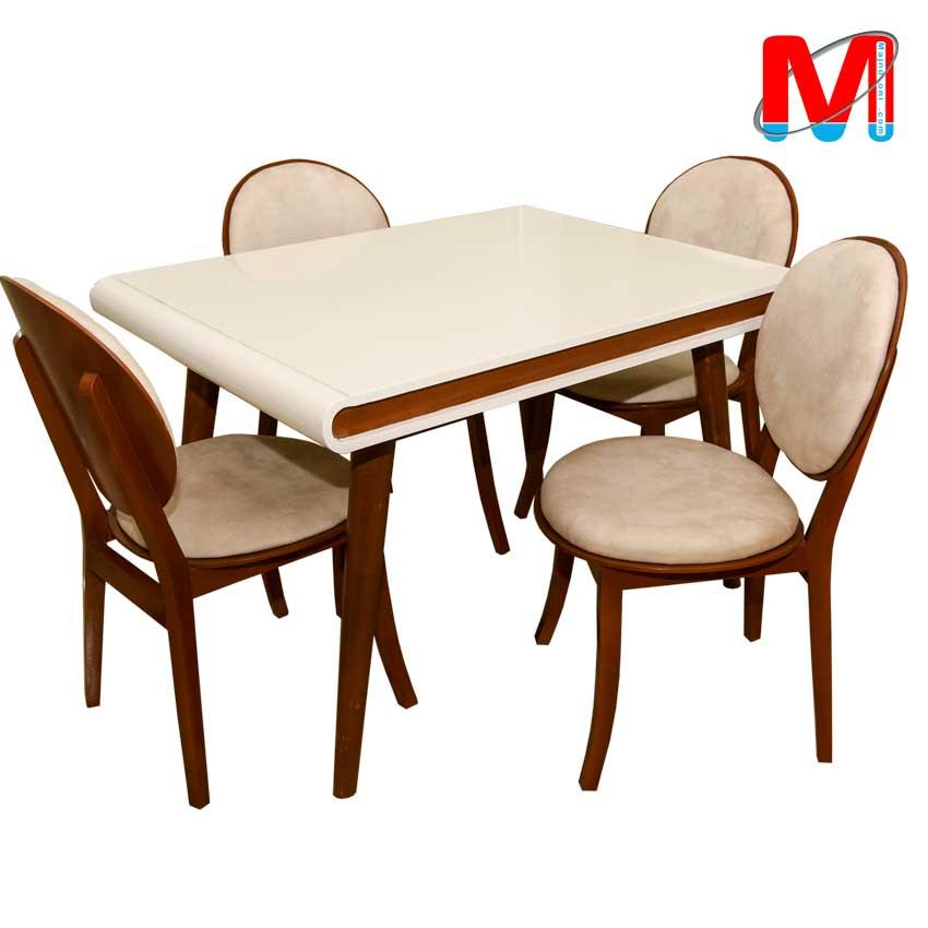 میز نهار خوری چهار نفره کارن با صندلی کارن