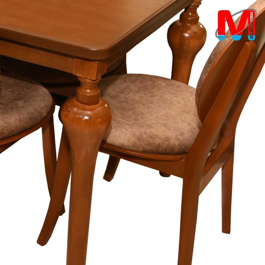 میز نهار خوری شیش نفره با میز پایه شیپوری