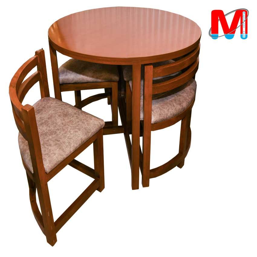 میز ناهار خوری کم جا چوب راش