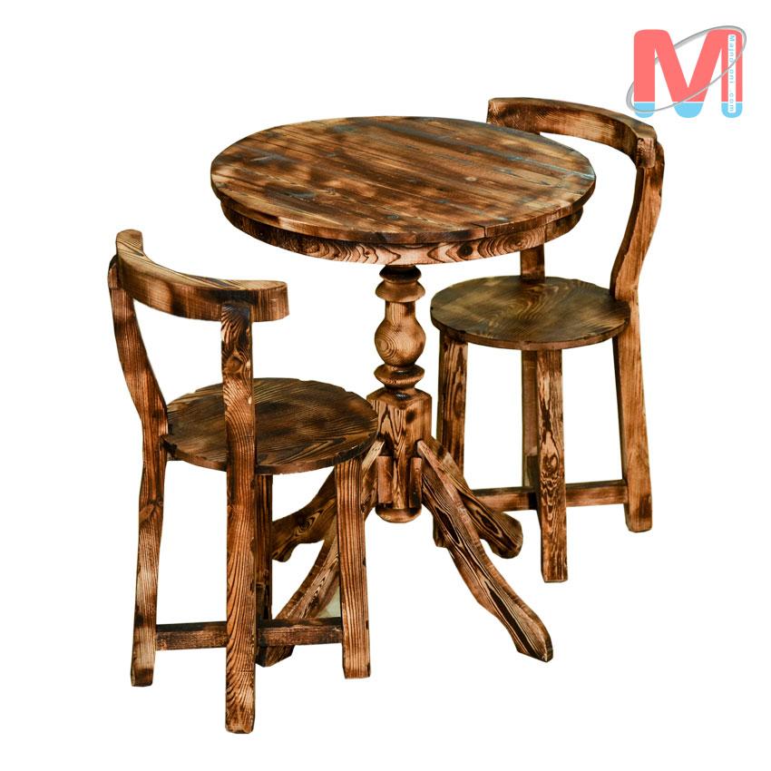 میز ناهار خوری دو نفره چوب روس