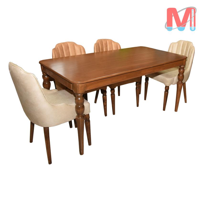 میز ناهارخوری 6 نفره چوب راش